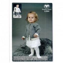 Babykofta och tröja  - Baby Merino