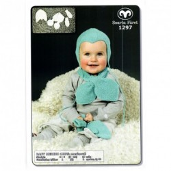 Babyhjälm, halsduk  och vantar - Baby Merino