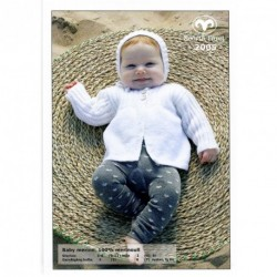 Babykofta och hätta - Baby Merino