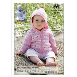 Barnkofta med luva - Baby Merino