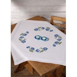 Duk - Blå blommor