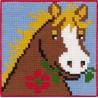 Barnstramalj Häst med blomma