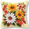 Kudde med blommor