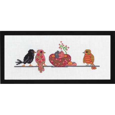 Fåglar med bo