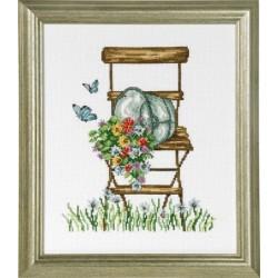 Tavla - Stol med blommor