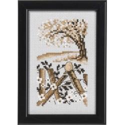 Tavla - Träd och staket