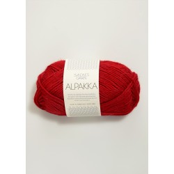 Alpakka - Röd - 4219