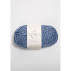 Alpakka Ull - Jeansblå - 6052