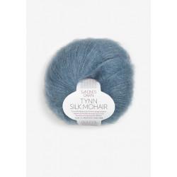 Tynn Silk Mohair - Isblå - 6552
