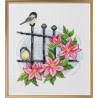 Tavla - Fåglar på staket